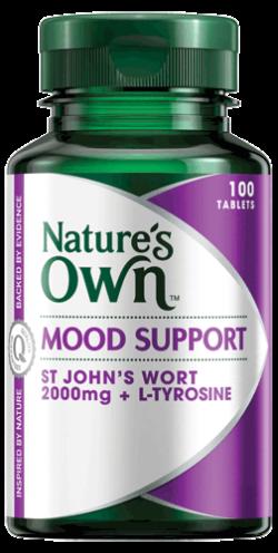 Mood Support, St John's Wort 2000mg + L-Tyrosine