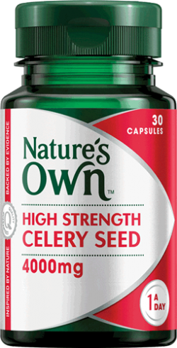 High Strength Celery Seed 4,000mg Capsules