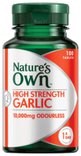 High Strength Garlic 10,000mg Odourless Tablets