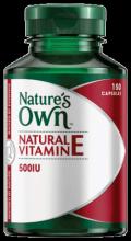 Natural Vitamin E 500IU Capsules