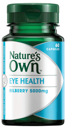 Eye Health, Bilberry 5000mg Capsules