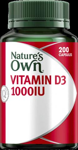 Nature's Own Vitamin D3 1000IU