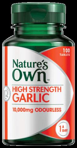 High Strength Garlic 10,000mg Odourless Tablets