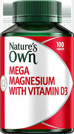 Nature's Own Mega Magnesium with Vitamin D3