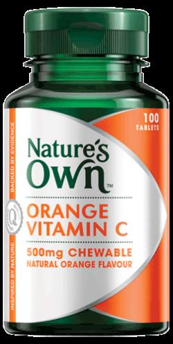 Vitamin C, chewable 500mg