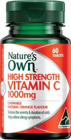 High Strength Vitamin C 1000mg Chewable Natural Orange Flavour