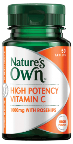 High Potency Vitamin C 1000mg with Rosehips