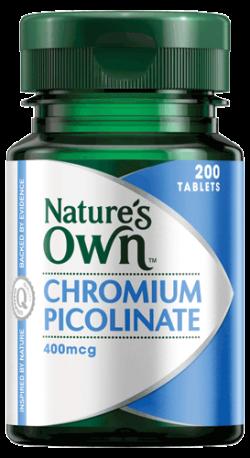 Chromium Picolinate 400mcg Tablets
