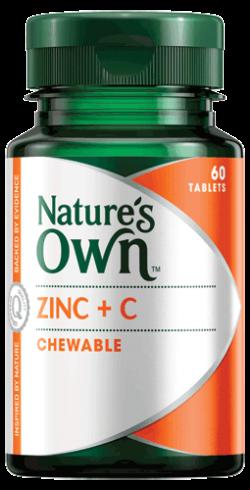 Zinc Plus C Chewable Tablets