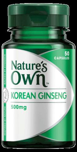 Korean Ginseng 500mg Capsules: For Stamina