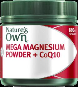 Nature's Own Mega Magnesium Powder + CoQ10