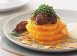 Orange & date salad with honey yoghurt