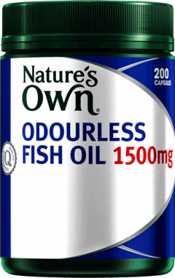 Nature's Own Odourless Fish Oil 1500mg