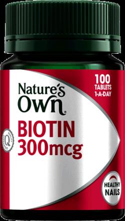 Nature's Own Biotin 300mcg
