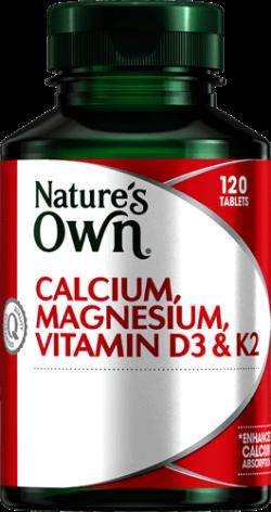 Calcium, Magnesium, Vitamin D3 + K2