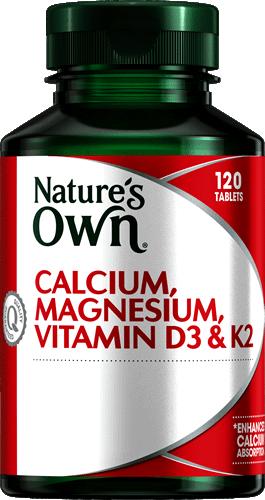 Calcium, Magnesium, Vitamin D3 & K2