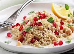 Chickpea, quinoa & pomegranate salad