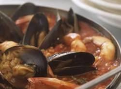 Prawn & mussel paella